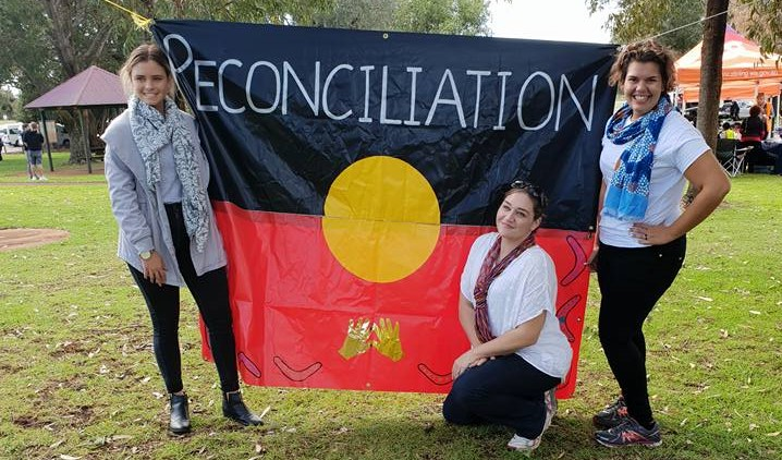 reconciliation flag with sophie and trudy louise