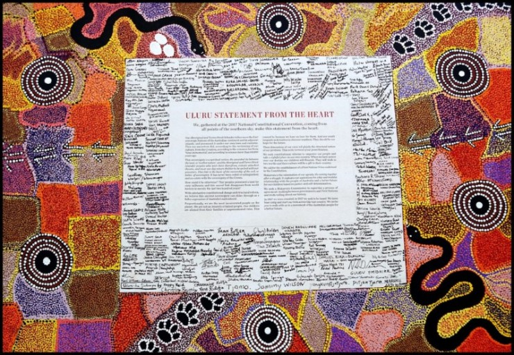 Uluru Statement from the Heart, Voice. Treaty. Truth. The statement. Statement form the Heart. First Nations Voice